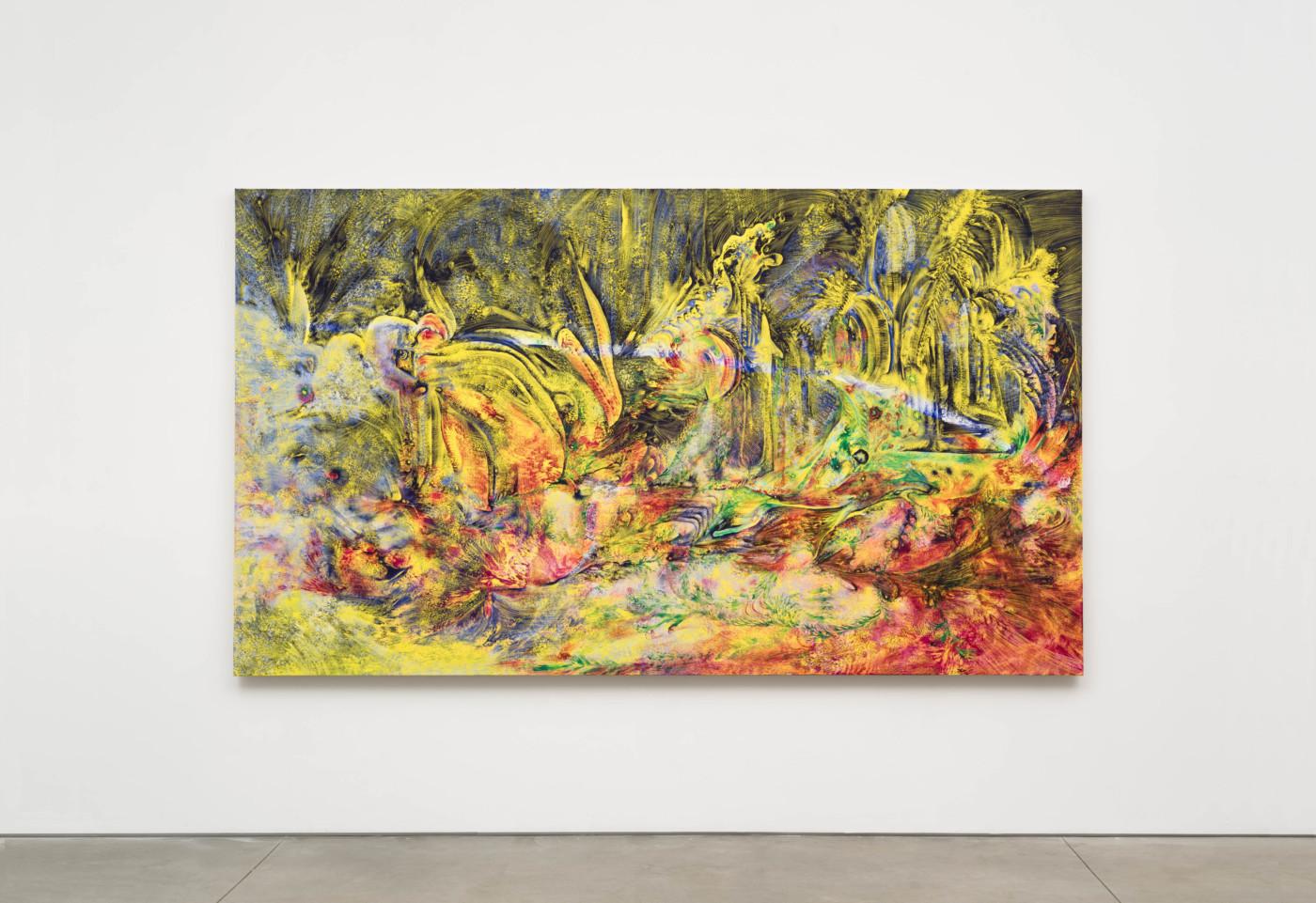 LUCY BULL  5:00 , 2021 Oil on linen 175,3 x 304,8 x 3,8 cm / 69 x 120 x 1 1/2 in - High Art Gallery Paris