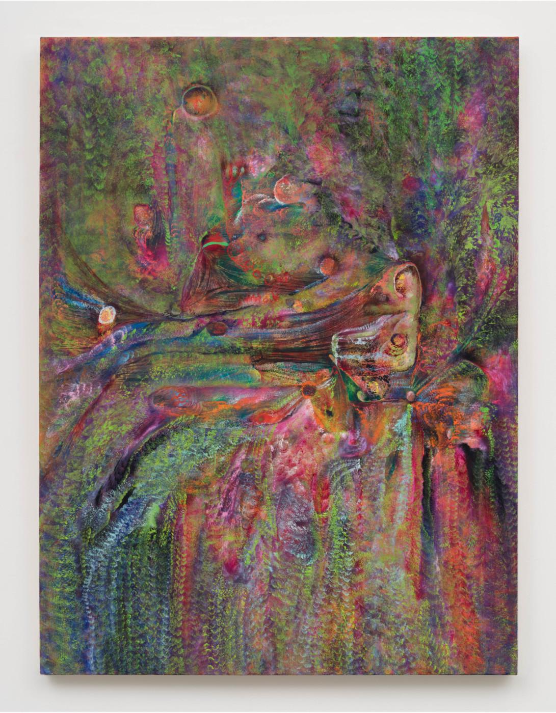 LUCY BULL  Crooked Coda , 2020 Oil on linen 121,9 x 91,4 x 3,8 cm / 48 x 36 x 1 1/2 in - High Art Gallery Paris