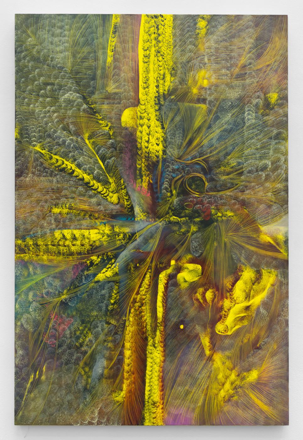 LUCY BULL  Crimson Suspicion , 2019 Oil on linen 152,4 x 101,6 cm / 60 x 40 in - High Art Gallery Paris